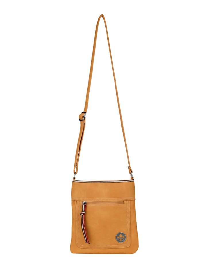 Rieker Shoulder bag in a sporty style, Mustard