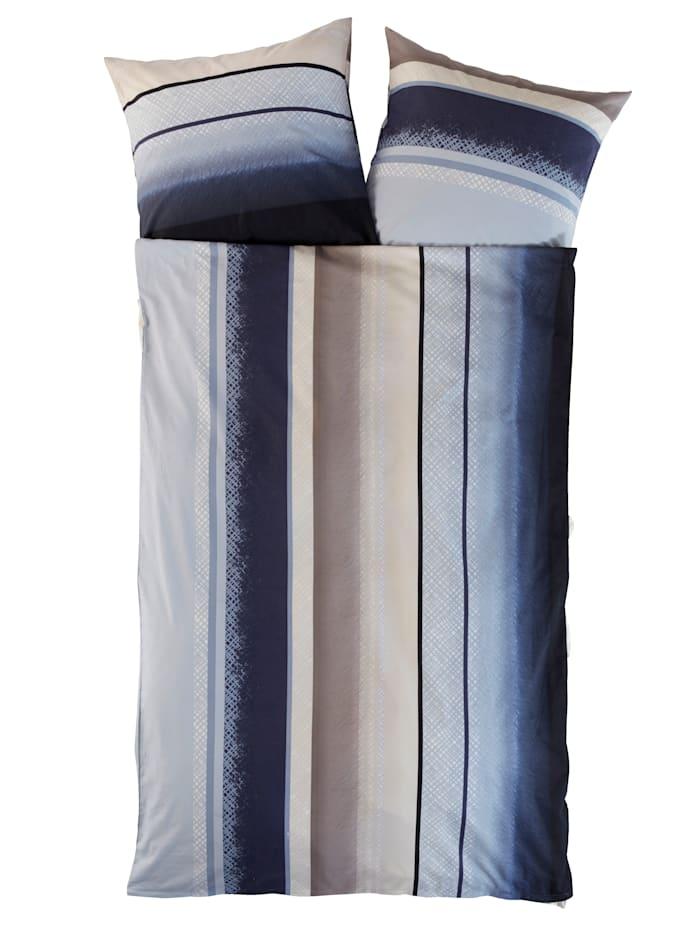 Webschatz Bäddset i 2 delar av fintrådig flanell, blå