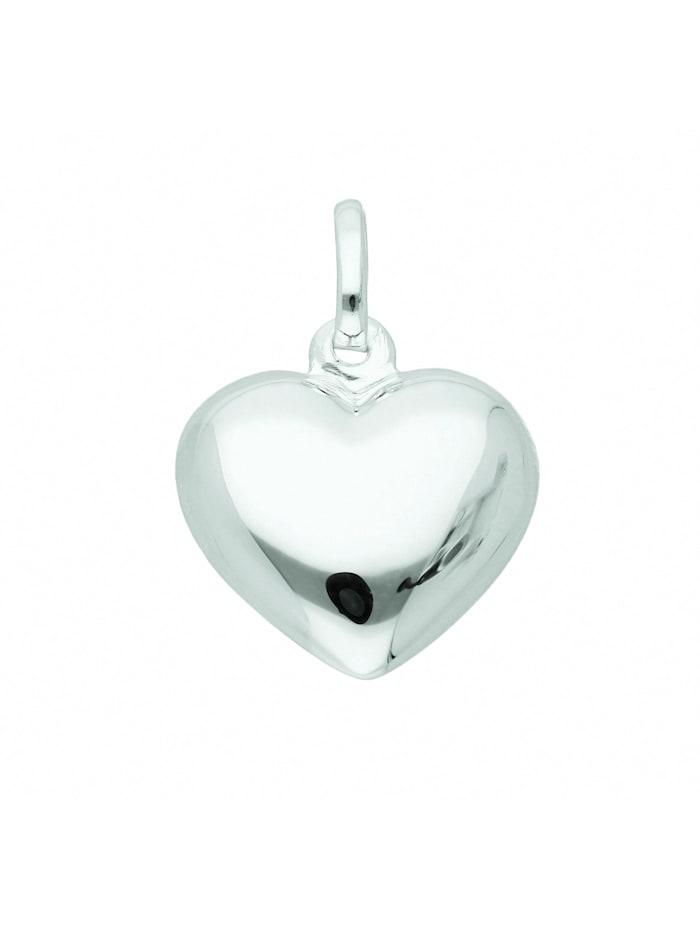 1001 Diamonds Damen Silberschmuck 925 Silber Anhänger Herz, silber