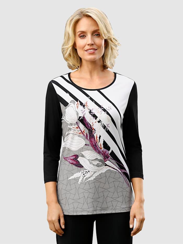 Paola Tričko s módním designem potisku, Černá