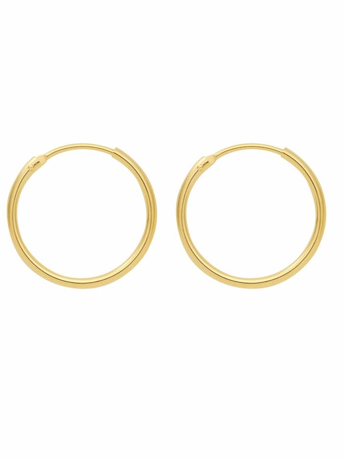 1001 Diamonds 1001 Diamonds Damen Goldschmuck 585 Gold Ohrringe / Creolen Ø 11 mm, gold