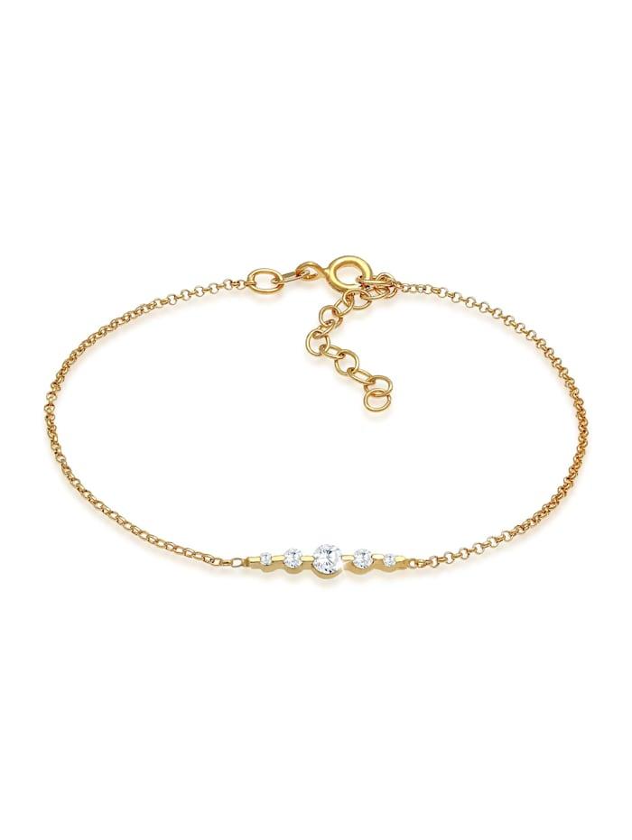 Elli Armband Klassisch Funkelnd Zirkonia Kristalle 925 Silber, Gold