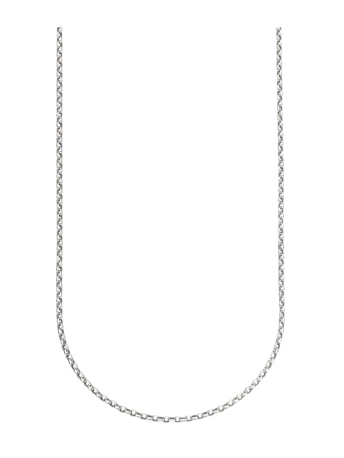 Erbskette in Weißgold 375