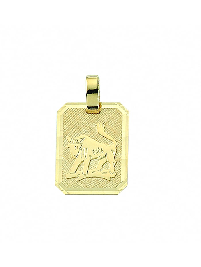 1001 Diamonds Damen & Herren Goldschmuck 333 Gold Sternzeichen Anhänger Stier, gold