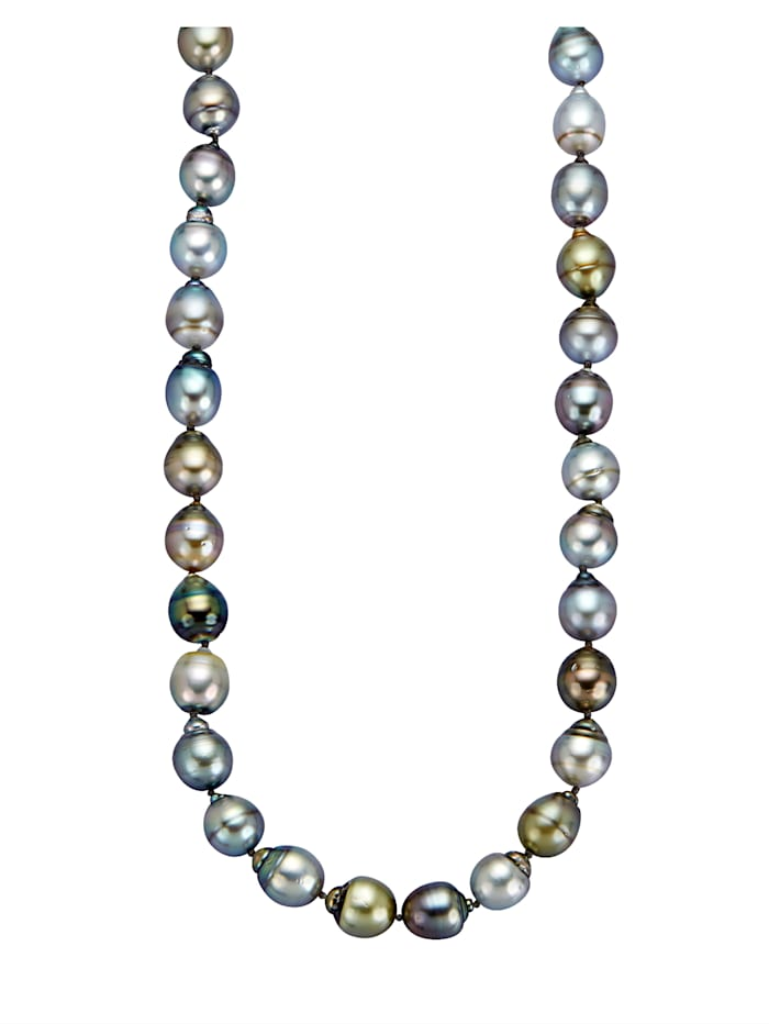 Diemer Perle Tahiti-helmikaulakoru, Harmaa