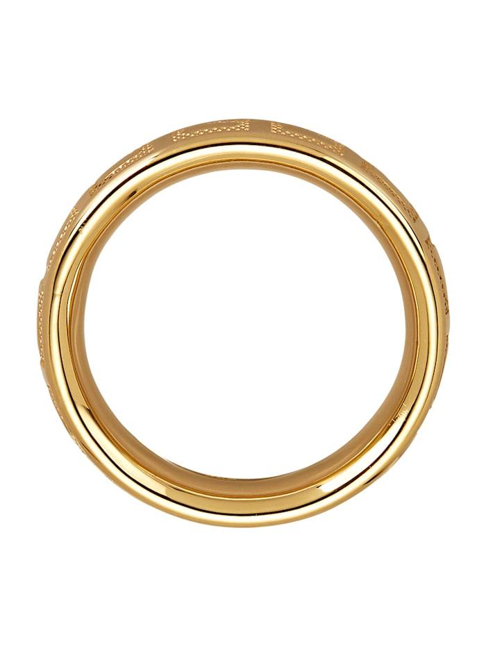 Pintakuvioitu kultasormus