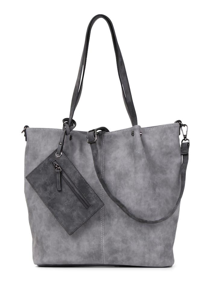 EMILY & NOAH Shopper Bag in Bag Surprise Uni, grey darkgrey 808