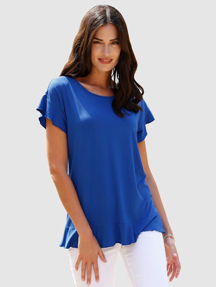 Paola Shirt met volant, Royal blue