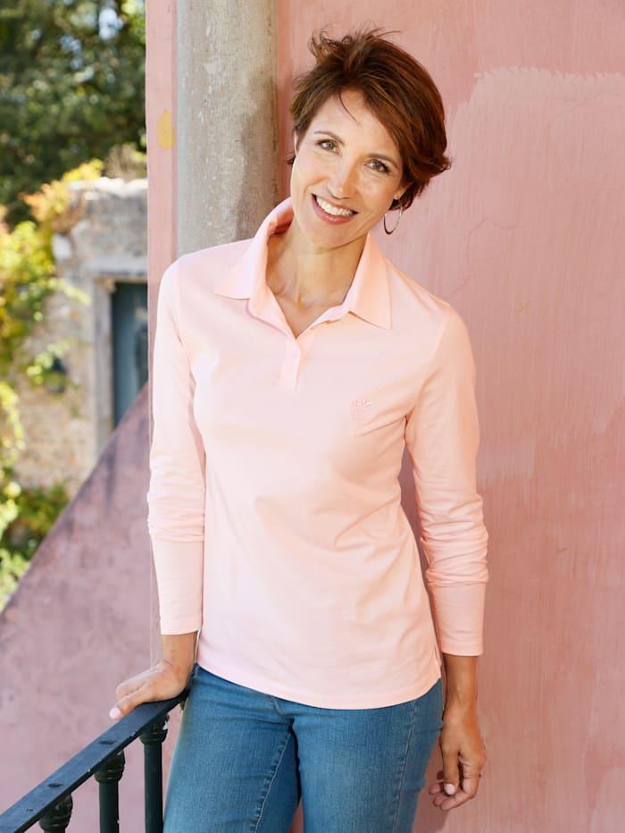 Paola Shirt mit Ton-in Ton Stickerei, Hellrosa