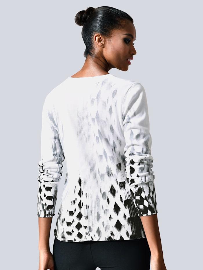 Pullover mit grafischem allover Print