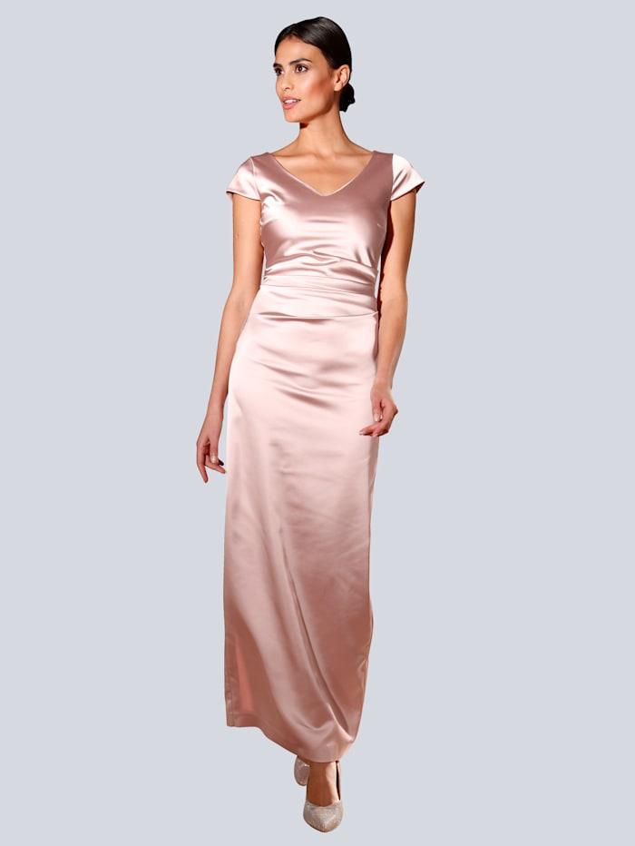 Alba Moda Kleid in eleganter Maxilänge, Rosé