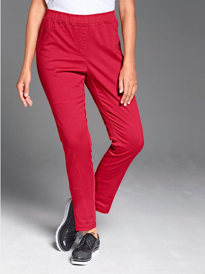 MIAMODA Hose mit elastischem Bund, Rot