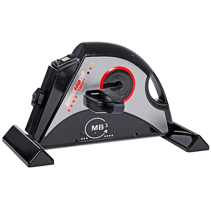 Christopeit Mini Bike MB 3/im Sitzen trainieren/mit mechanischem Antrieb, grau/schwarz