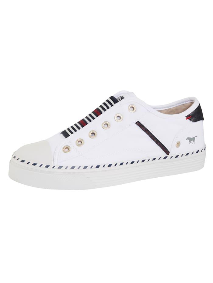 Mustang Sneaker zum Reinschlüpfen, Weiß