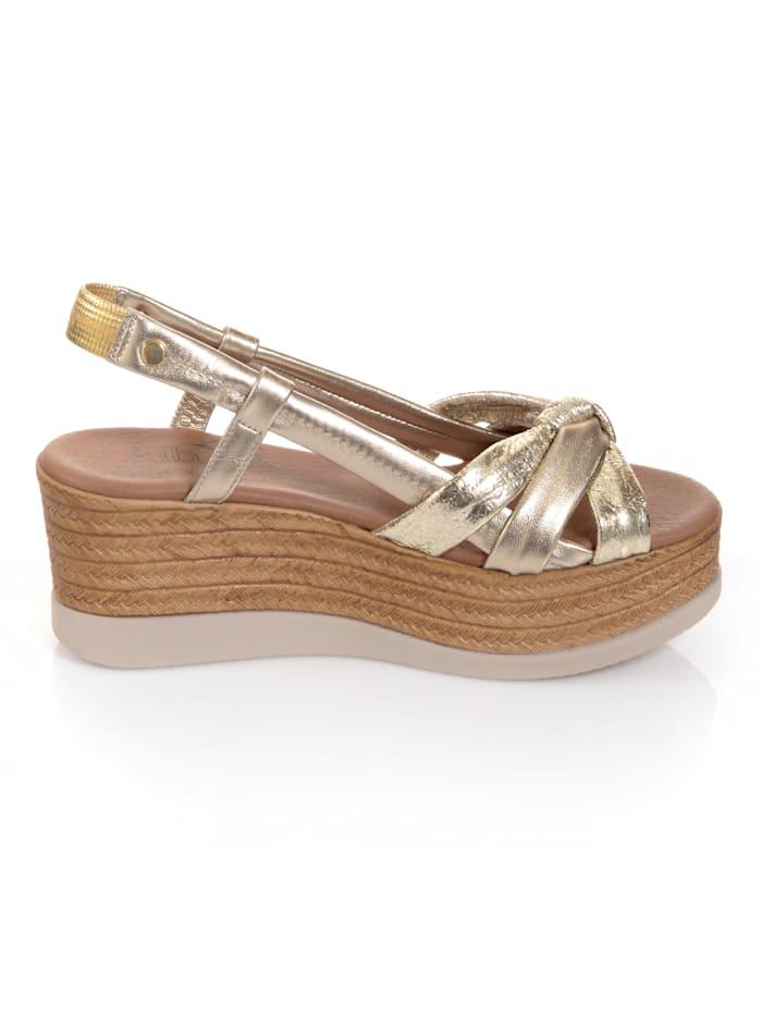 Sandales à effet noué