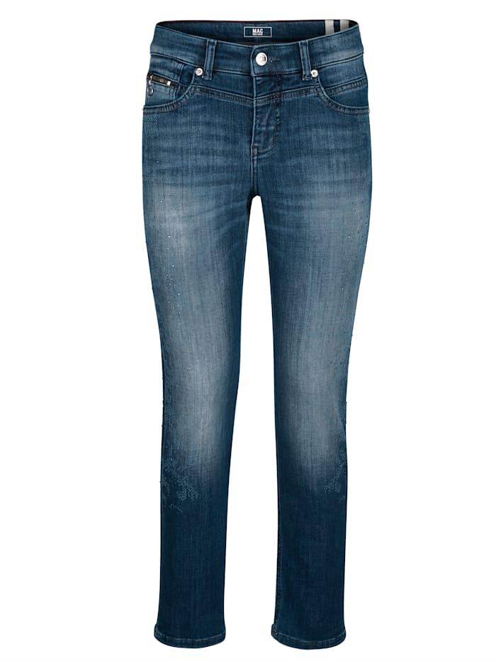 Jeans mit Turn up am Saum