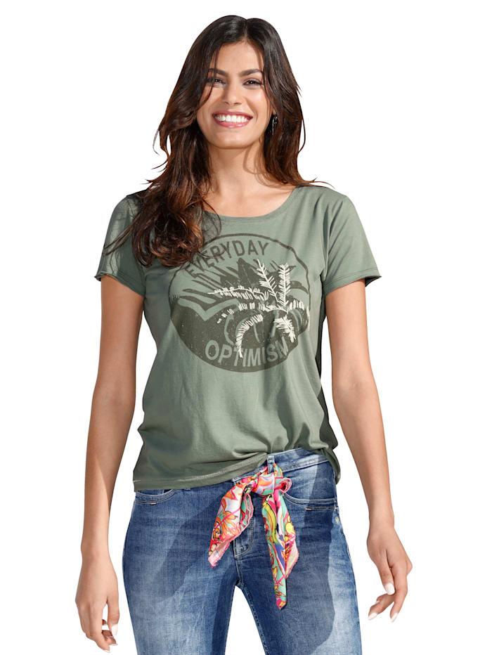 Lieblingsstück Shirt met print voor, Groen