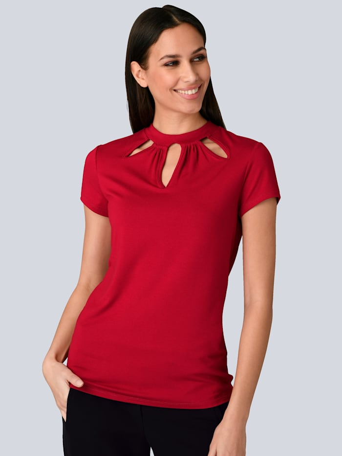 Alba Moda Shirt met trendy cut-outs, Rood