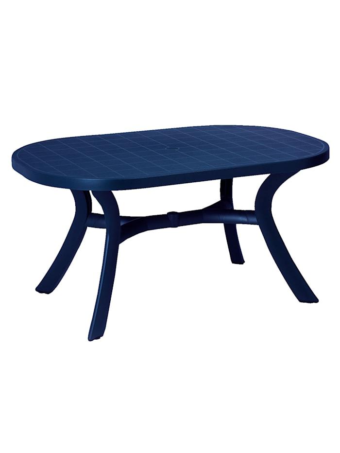 BEST FREIZEITMÖBEL Robuster-Gartentisch 'Oval', Blau