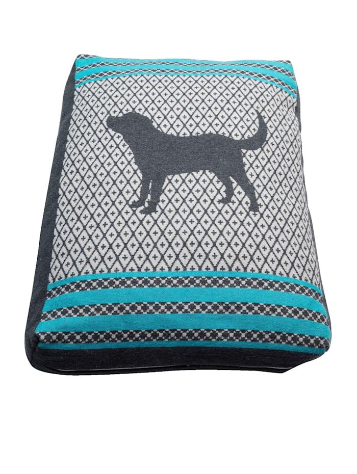 FUSSENEGGER Kissenhülle für Hundebett, Grau