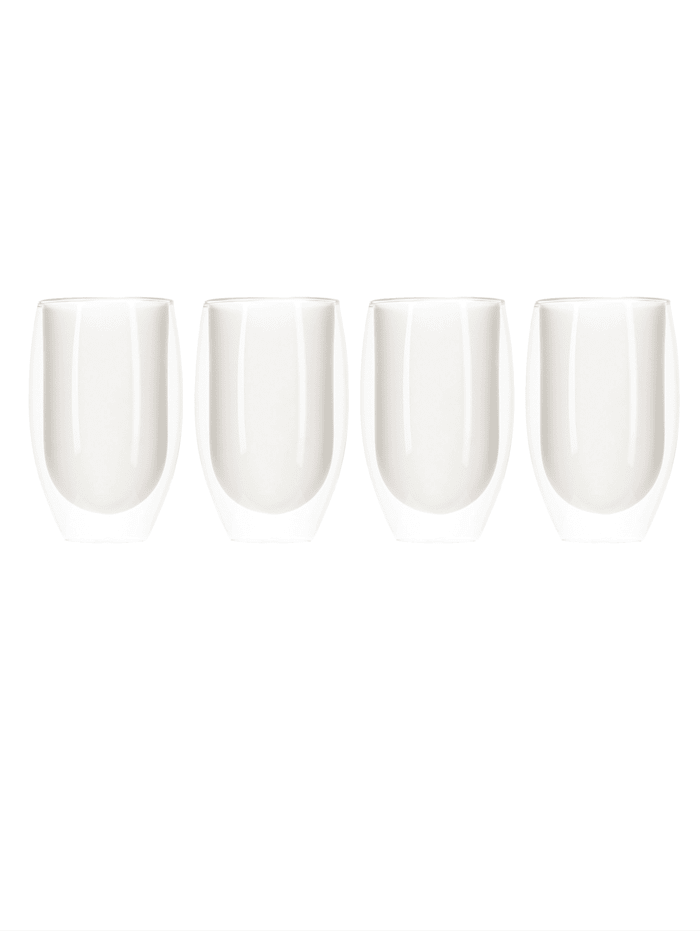 IMPRESSIONEN living Glas-Set, 4-tlg., klar/weiß