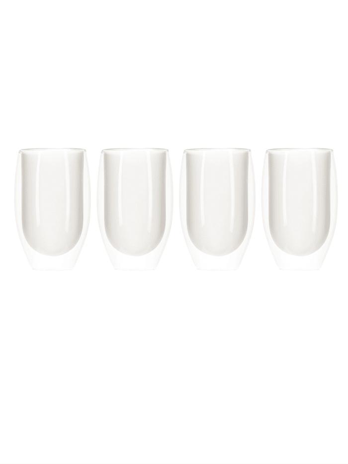 IMPRESSIONEN living Lot de 4 verres, Transparent/blanc
