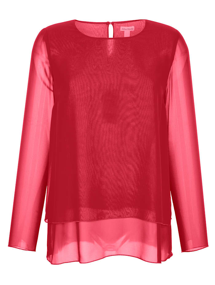Alba Moda Bluse aus Chiffon, Rot