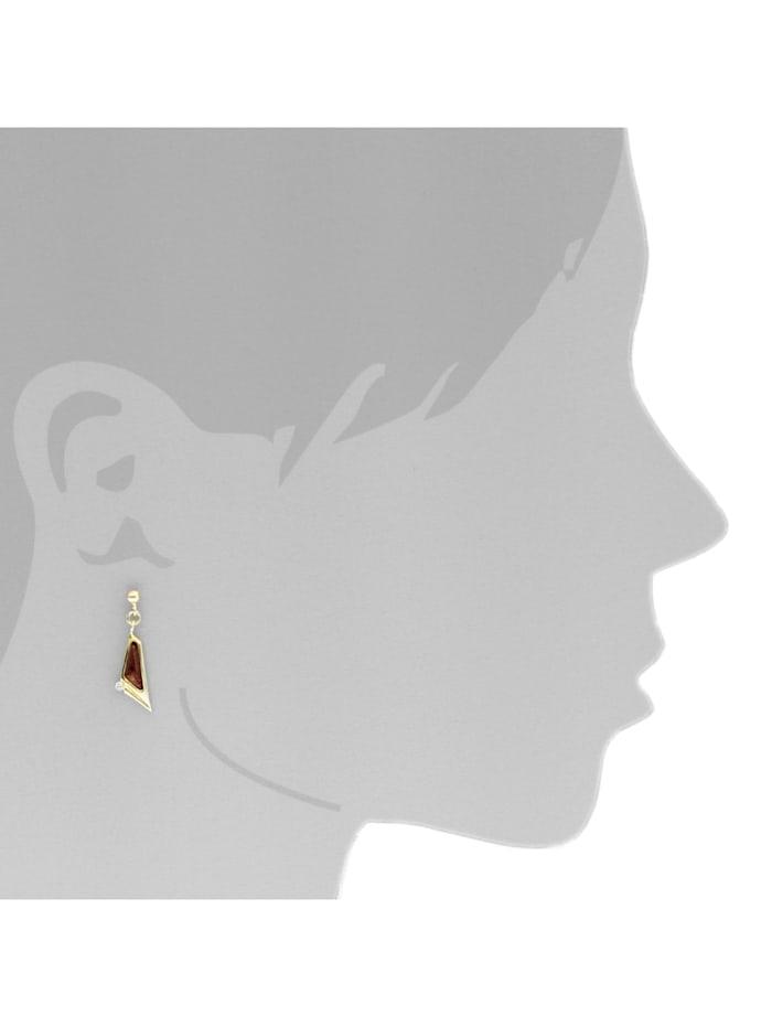 Ohrhänger - Agneta - Gold 585/000 - Bernstein/Brillant