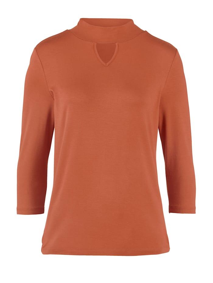MONA Shirt mit Cut-Out, Terracotta