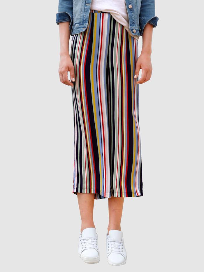 Dress In Culotte s peknou prúžkovanou potlačou, Námornícka