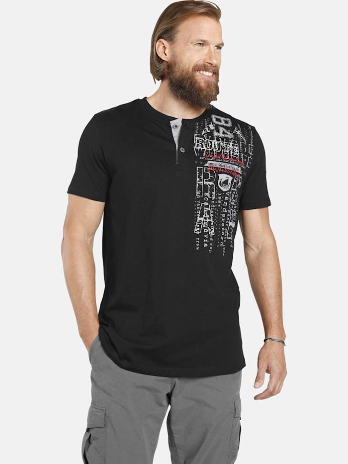 Jan Vanderstorm T-Shirt PAALE, schwarz