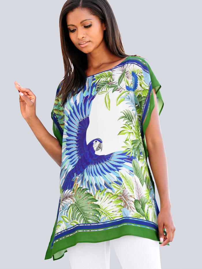 Alba Moda Tunique de plage à imprimé façon foulard, Vert