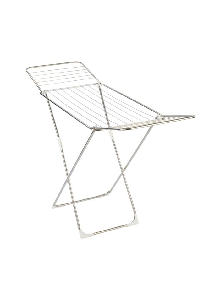 Wenko Wäschetrockner Puro, 18 m Trockenlänge, Trockner: Silber matt, Kunststoffteile: Weiß