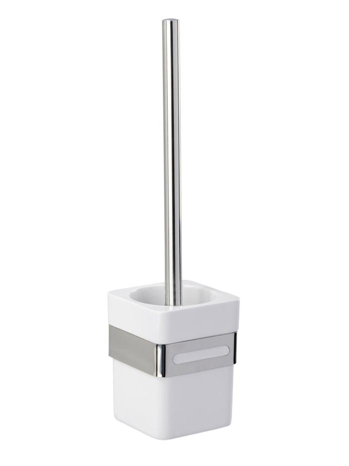 Wenko WC-Garnitur Premium Plus, Edelstahl, Glänzend, Behälter