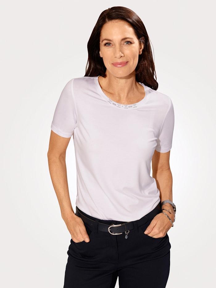MONA Shirt van comfortabele jersey, Wit