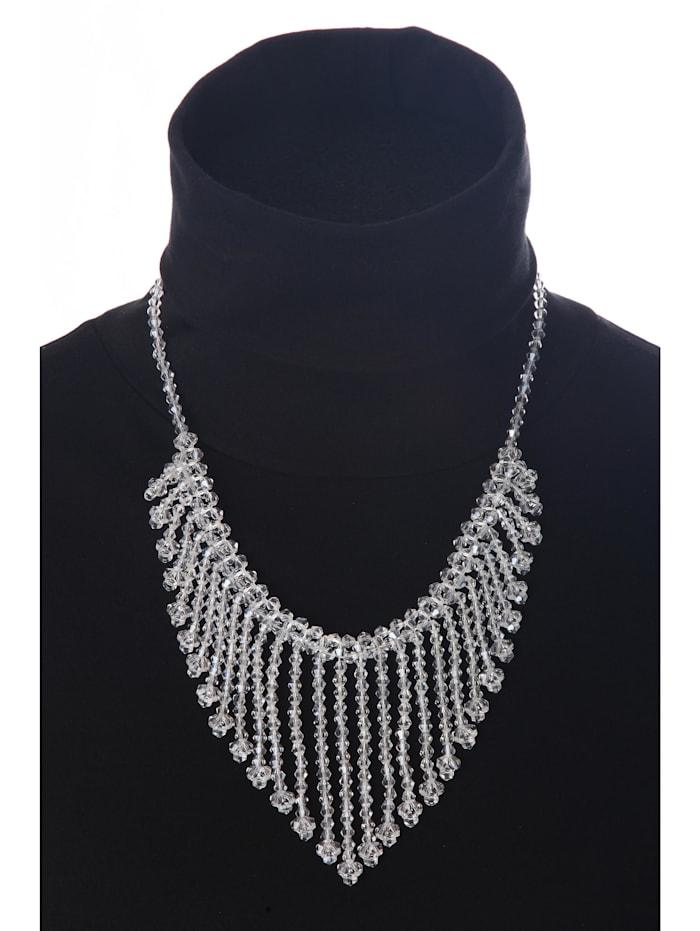 Kurze Kette Crystal viele Perlenanhänger