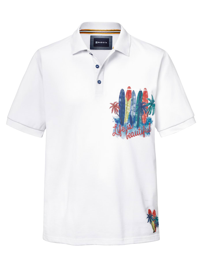 BABISTA Poloshirt met 1 borstzak, Wit