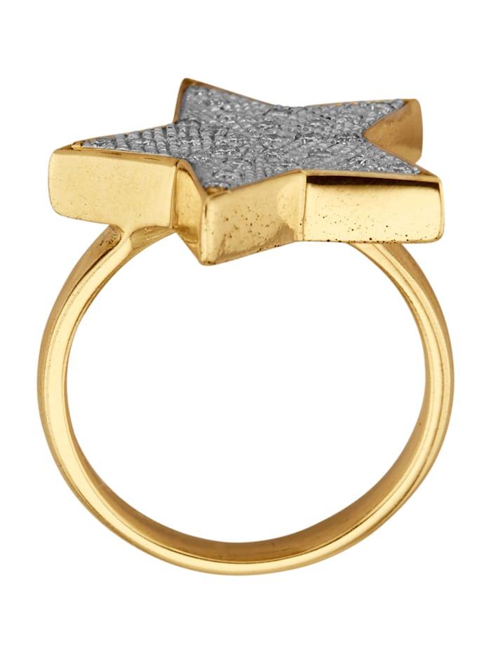 Stern-Ring mit Brillanten