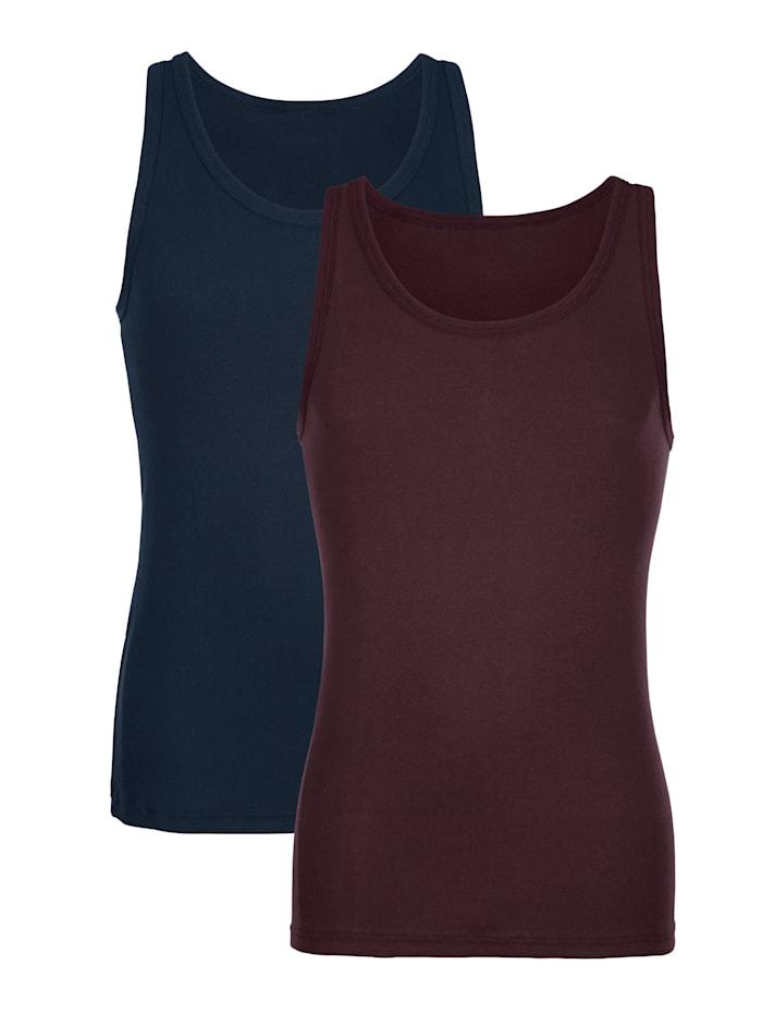 Hemden, Marine/Aubergine