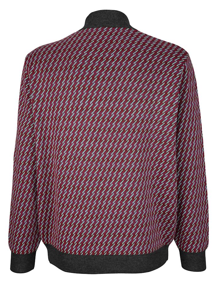 Pullover mit Jacquardmuster rundum