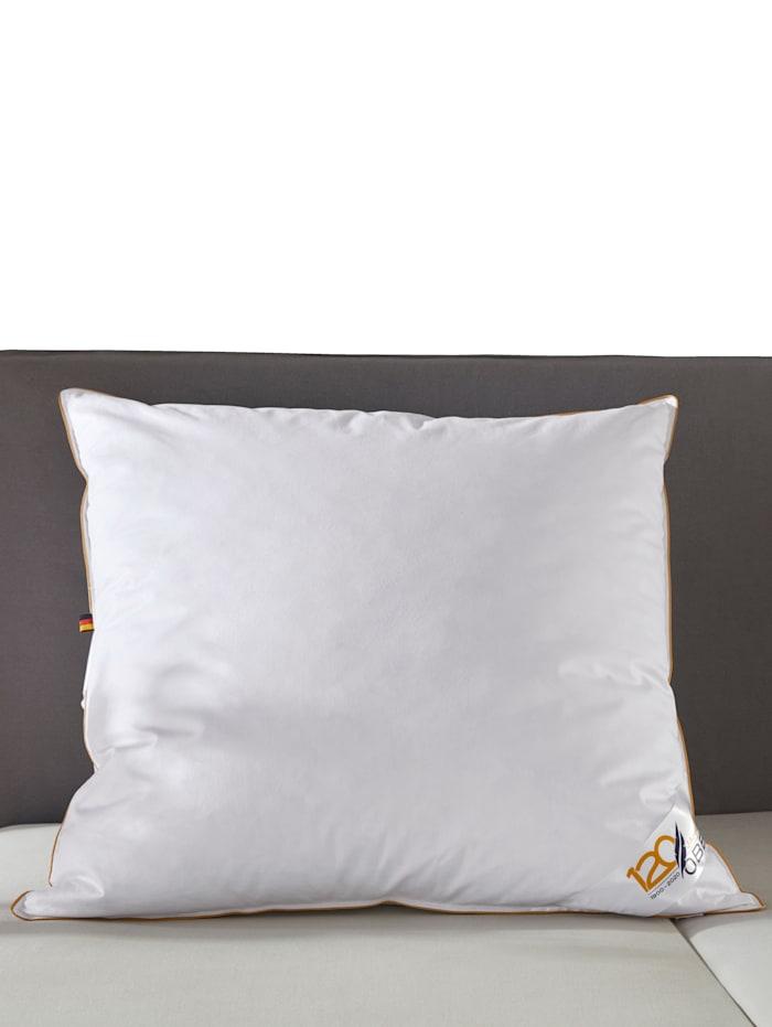 Couettes et oreillers en duvet, avec biais couleur or