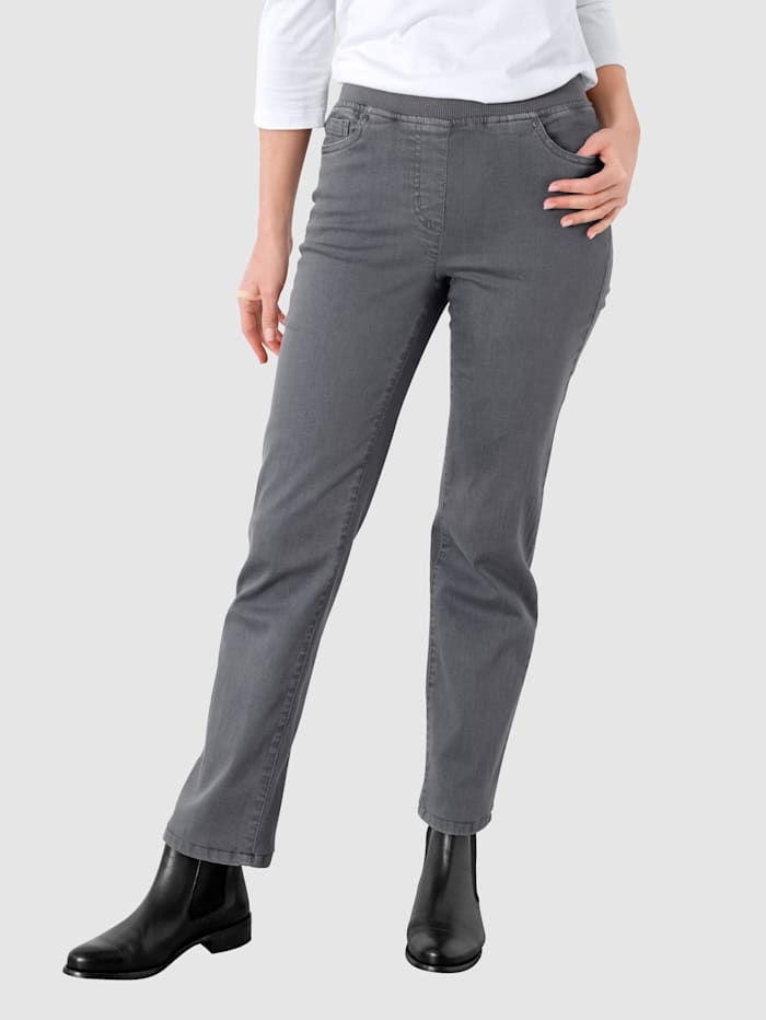 Paola Jeans in gerader Form, Grau