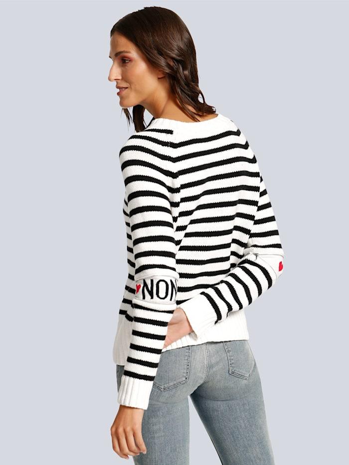 Pullover mit raffiniertem Detail am Ellenbogen