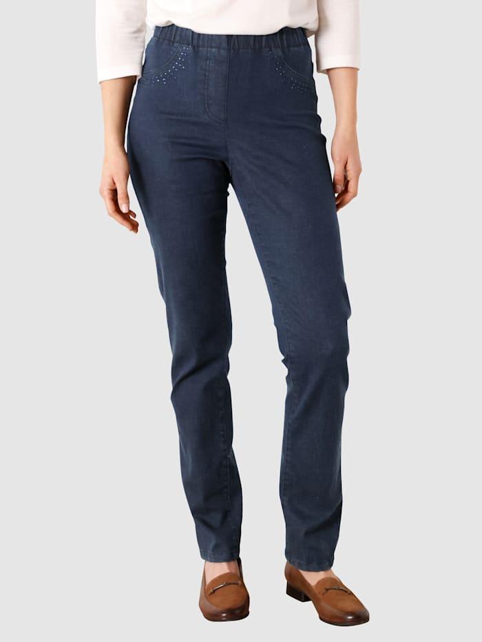 Paola Jeans met smalle pijpen, Donkerblauw