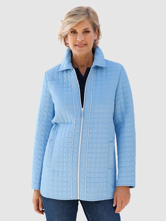 Paola Tikkikuvioitu takki, Sininen