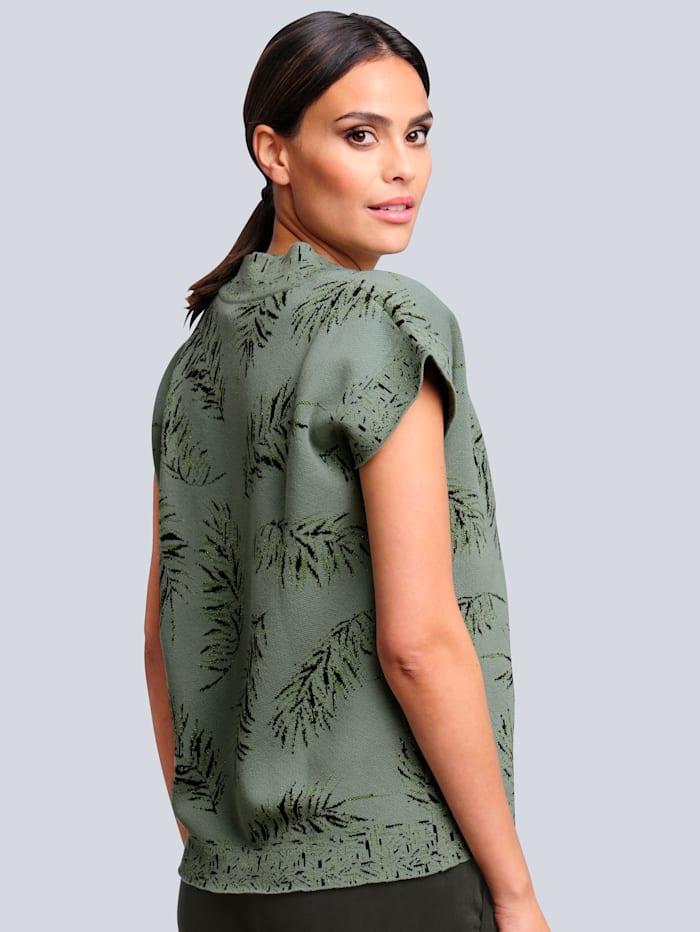 Tröja med mönster som är exklusivt för Alba Moda