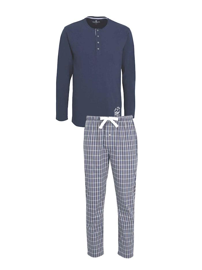 Tom Tailor Pyjama mit Webhose, blue-dark-solid