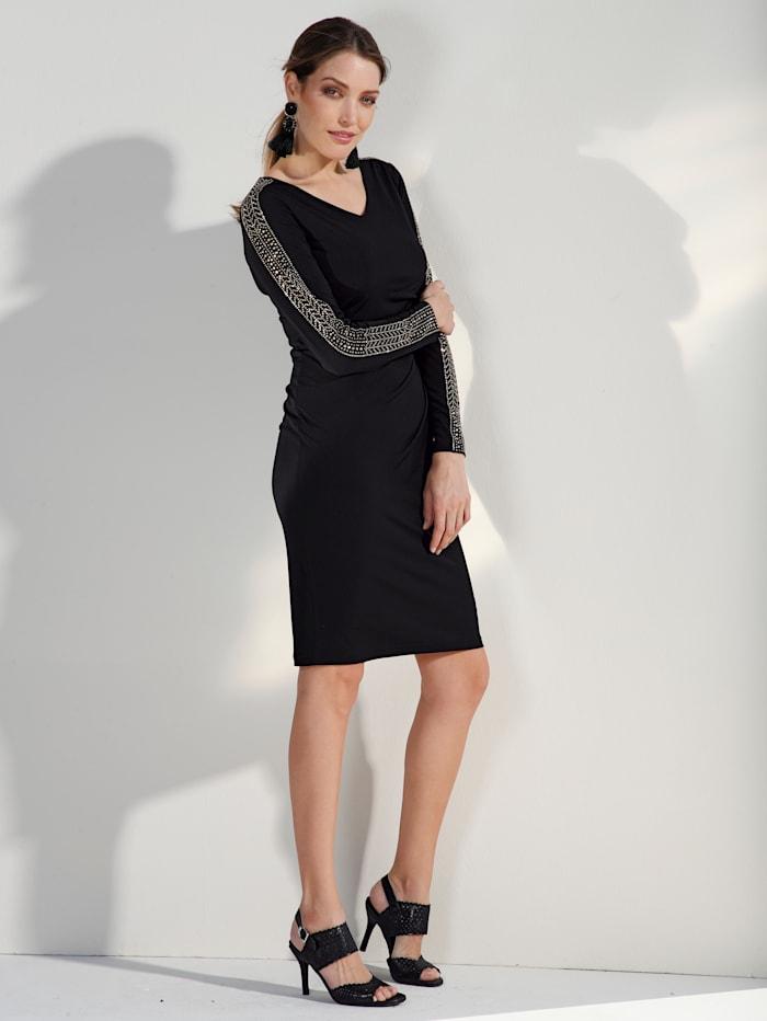 Jerseykleid mit Plättchendekoration