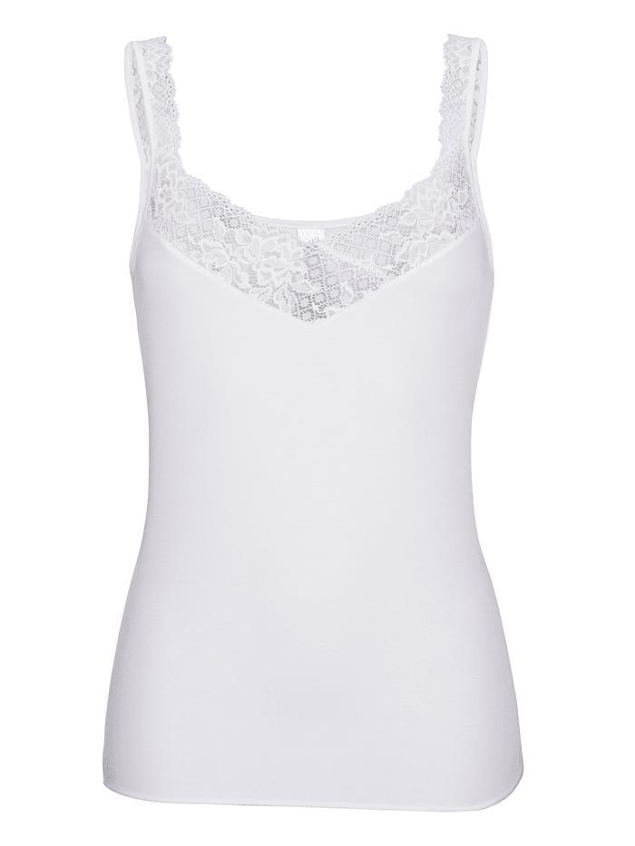 MONA Achselhemd, Weiß