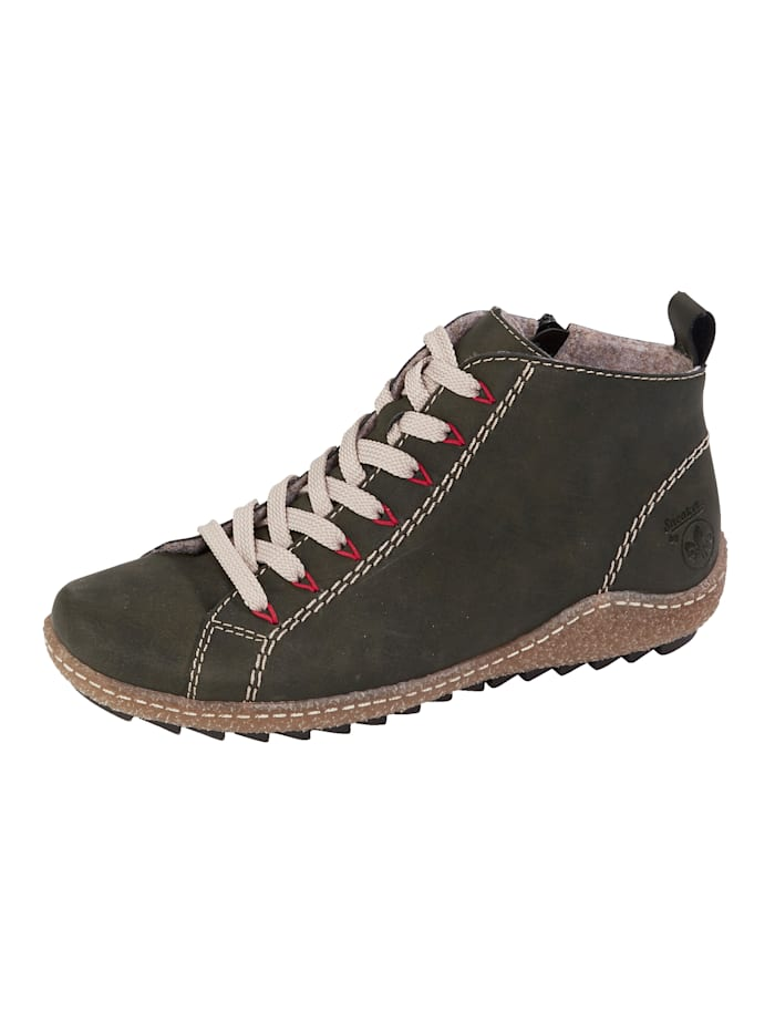 Rieker Ankle boots with a removable insole, Olive